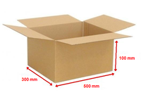 Kartonová krabice 500x300x100mm (25ks)