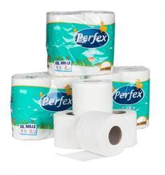 Toaletní papír PERFEX Plus, 2-vrstvý bílý, 10 rolí