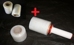 Stretch fóli granát - průhledná 10cm (60 ks) + Odvíječ