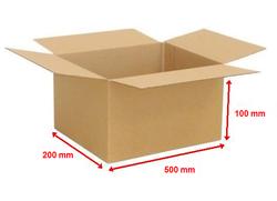 Kartonová krabice 500x200x100mm (25ks) - 1