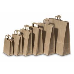 Papírová taška 260 x 120 x 350 mm hnědá