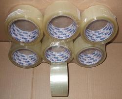 Lepící páska ULITH průhledná 48mm/66m, (6 ks)