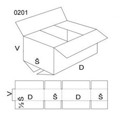 Kartonová krabice 500x200x200mm (25ks) - 2