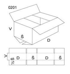 Kartonová krabice 400x200x100mm (25ks) - 2
