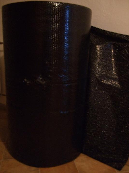Bublinková folie černá 1x100m