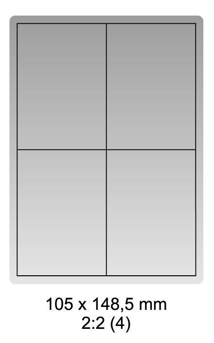 Samolepicí bílé etikety 105 x 148,5mm, A4 (100 ks)