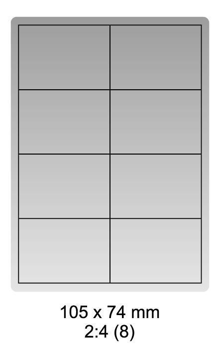 Samolepicí bílé etikety 105 x 74mm, A4 (100 ks)