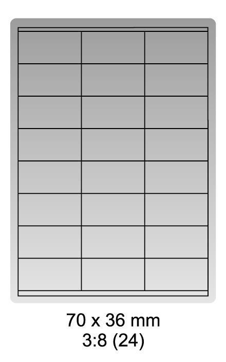 Samolepicí bílé etikety 70 x 36mm, A4 (100 ks)