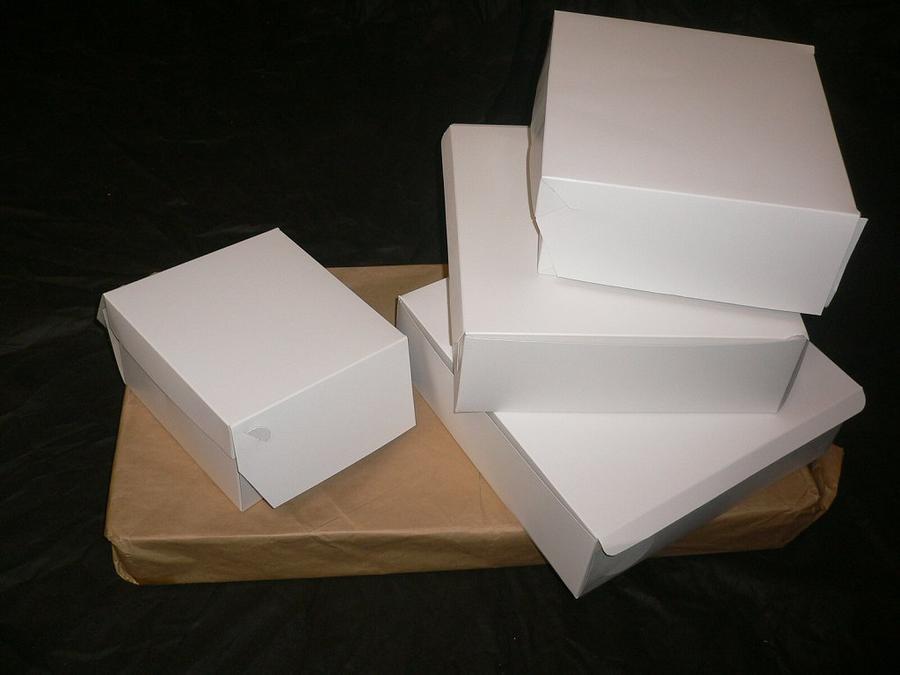 Papírová krabice na dort 200x200x100 mm